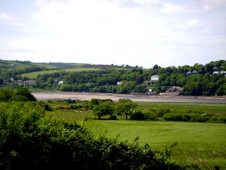 View to Dylan Thomas's boat house